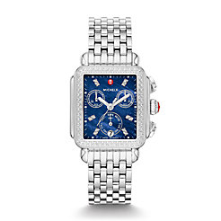 Signature Deco Stainless-Steel Diamond Watch