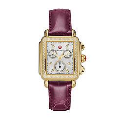 Signature Deco Gold Diamond Watch