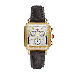 Signature Deco Gold Diamond Watch