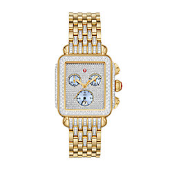 Deco 18k Gold Pavé Diamond Watch