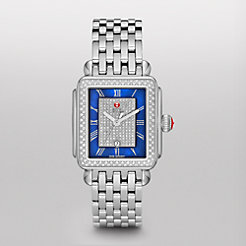 Deco Diamond, Blue Pav� Dial Watch
