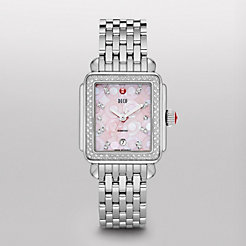 Deco Diamond, Pink Mosaic Diamond Dial Watch