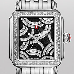 Art Of Deco Diamond, Black Diamond Dial Watch