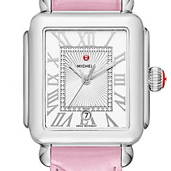 Deco Madison, Diamond Dial Pink Alligator Watch