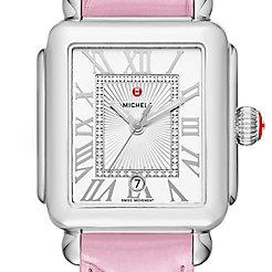 Deco Madison, Diamond Dial Pink Alligator Watch