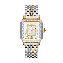 Deco Madison Diamond Two-Tone, Diamond Dial Watch