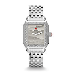 Deco Diamond, Grey Gradient Dial Watch