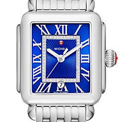 Deco Madison, Cobalt Diamond Dial Watch
