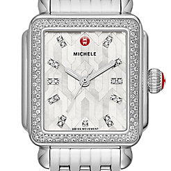 Deco Stainless Steel Mosaic Diamond Watch