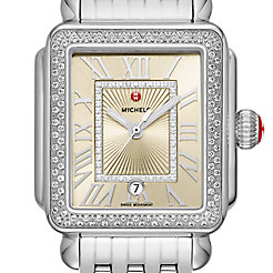Deco Madison Stainless-Steel Champagne Diamond Watch