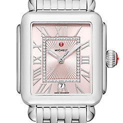 Deco Madison Stainless-Steel Blush Diamond Dial Watch