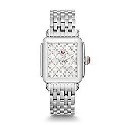 Deco Stainless-Steel Mosaic Dial Watch