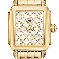Deco Gold Mosaic Dial Watch