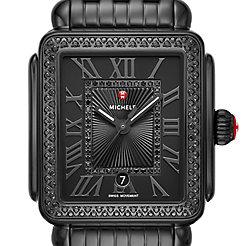 Deco Madison Noir Diamond Watch