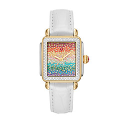 Deco Carousel Pavé Two-Tone Diamond Watch