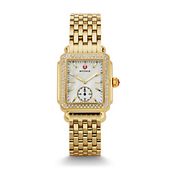Deco 16 Diamond Gold Watch