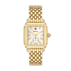 Deco Mid Gold, Diamond Dial Watch