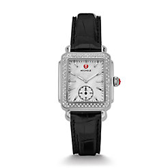 Deco 16 Diamond Black Alligator Watch