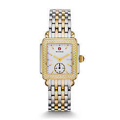 Deco Mid Two Tone Diamond, Two Tone Bracelet Watch