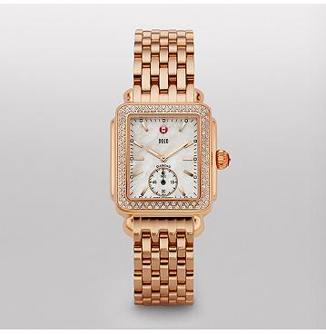 Deco 16 Diamond Rose Gold - Michele Watches