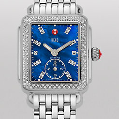 Deco 16 Diamond, Blue Diamond Dial Watch