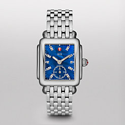 Deco 16, Blue Diamond Dial on Bracelet Watch