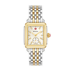 Deco Mid Two-Tone, Diamond Dial on Two-Tone Bracelet Watch