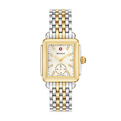 Deco 16 Two-Tone, Diamond Dial on Two-Tone Bracelet Watch