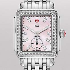 Deco 16 Diamond, Pink Diamond Dial Watch