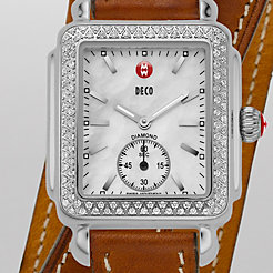 Deco 16 Diamond Saddle Double Wrap Watch
