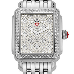 Deco 16 Fleur Diamond, Diamond Dial Watch