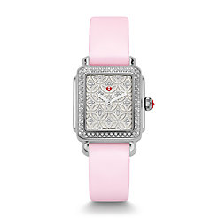 Deco 16 Fleur Diamond, Diamond Dial Pastel Pink Satin Tech Watch