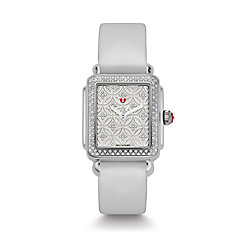 Deco 16 Fleur Diamond, Diamond Dial Silver Satin Tech Watch