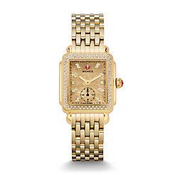 Deco 16 Diamond Gold, Metallic Gold Diamond Dial Watch