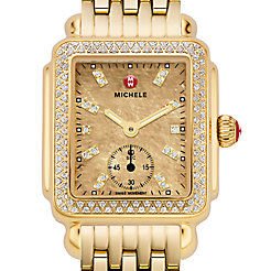 Deco 16 Diamond Gold, Metallic Gold Diamond Dial Watch