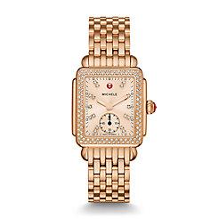 Deco 16 Diamond Rose Gold, Beige Diamond Dial Watch