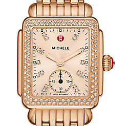 Deco 16 Diamond Rose Gold, Beige Diamond Dial Watch