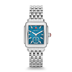 Deco Mid, Teal Diamond Dial Watch