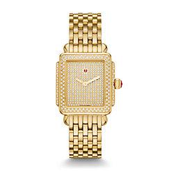 Deco 16 Diamond Gold, Pavé Diamond Dial Watch