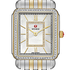 Deco II Diamond Two-Tone, Diamond Dial Watch