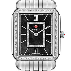 Deco II Diamond, Black Diamond Dial Watch