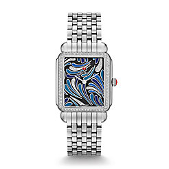 Deco II Bijoux Diamond, Blue Diamond Dial Watch