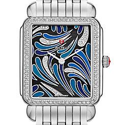 Deco II Bijoux Diamond, Blue Diamond Dial Watch