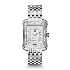 Deco Moderne II Stainless-Steel Diamond Watch