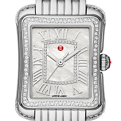 Deco Moderne II Stainless-Steel Diamond Watch