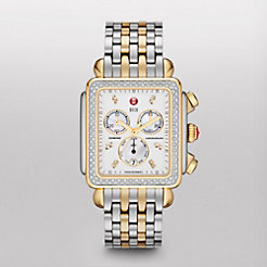 Deco XL Day Diamond Two-Tone, Diamond Dial Watch