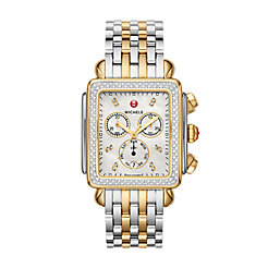 Deco XL Two-Tone Diamond Dial watch