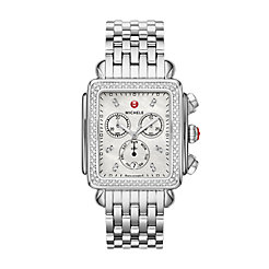 Deco XL Stainless-Steel Diamond Watch