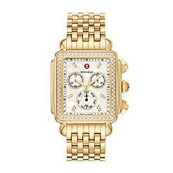 Deco XL Gold Diamond Watch