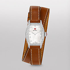 Urban Coquette Diamond, Diamond Dial Saddle Calf Skin Double Wrap Watch